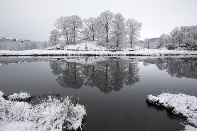 Overnight Snow Covers The Langdale Valley In A Pristine Sheen