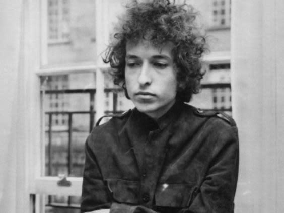 Dylan at a London press conference in 1966 (Express Newspapers/Getty)