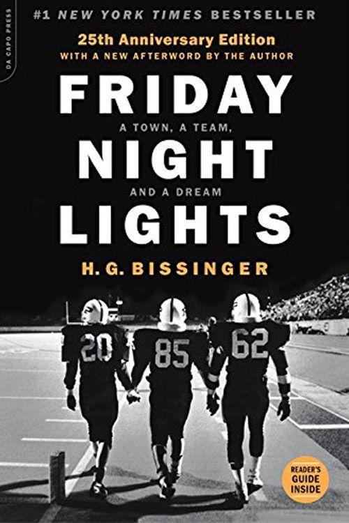 "<p><strong><em>Friday Night Lights</em> by H. G. Bissinger</strong></p><p>$13.98 <a class=""link rapid-noclick-resp"" href=""https://www.amazon.com/Friday-Night-Lights-25th-Anniversary/dp/0306824205/?tag=syn-yahoo-20&ascsubtag=%5Bartid%7C10063.g.34149860%5Bsrc%7Cyahoo-us"" rel=""nofollow noopener"" target=""_blank"" data-ylk=""slk:BUY NOW"">BUY NOW</a> </p><p>The Permian High School Panthers football team in Odessa, Texas, is the inspiration of the town. H. B. Kissinger immersed himself in the high school football team by moving there to completely understand the culture. This story about the Panthers making their way to the Texas State Championship in 1988 was adapted into the hit television series by the same name. <br></p>"