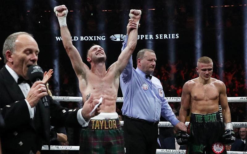 Taylor took his unbeaten record to 15 fights with the win over Baranchyk - Action Images via Reuters