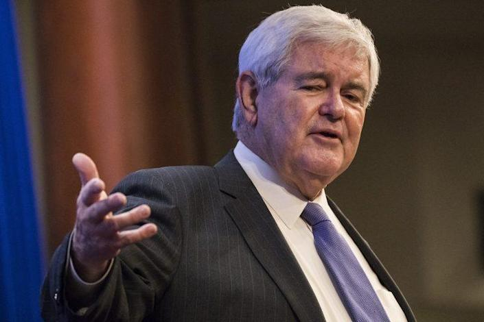 """Former Speaker of the House Newt Gingrich speaks on """"The Principles of Trumpism"""" at the Heritage Foundation in Washington on December 13, 2016. (Photo: Samuel Corum/Anadolu Agency/Getty Images)"""