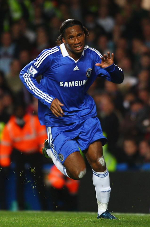 <p>The highest-scoring African in English football history, Drogba netted all his goals for Chelsea </p>