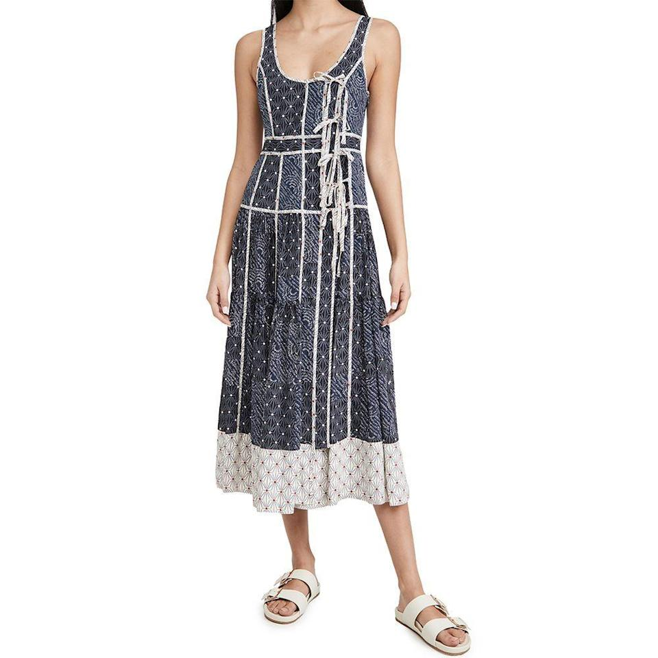 """<p><strong>Ulla Johnson </strong></p><p>shopbop.com</p><p><strong>$845.00</strong></p><p><a href=""""https://go.redirectingat.com?id=74968X1596630&url=https%3A%2F%2Fwww.shopbop.com%2Fkeira-dress-ulla-johnson%2Fvp%2Fv%3D1%2F1594484315.htm&sref=https%3A%2F%2Fwww.elle.com%2Ffashion%2Fshopping%2Fg36080635%2Fshopbop-spring-sale%2F"""" rel=""""nofollow noopener"""" target=""""_blank"""" data-ylk=""""slk:Shop Now"""" class=""""link rapid-noclick-resp"""">Shop Now</a></p><p><strong><del>$845</del> $634 (25% off)</strong></p><p>Be the best dressed wedding guest at your friends' rescheduled weddings in this stunning Ulla Johnson number. </p>"""