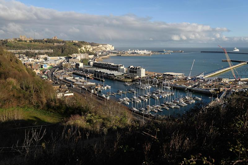 The ferry port and marina in Dover on England's south coast: Getty Images