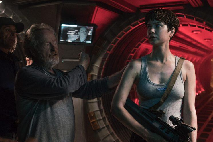 Ridley Scott directs and Katherine Waterston stars in