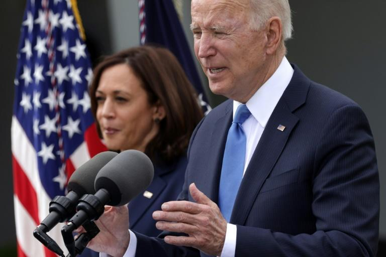 """""""I think it's a great milestone, a great day,"""" said US President Joe Biden of America's decision to lift indoor masking guidelines"""