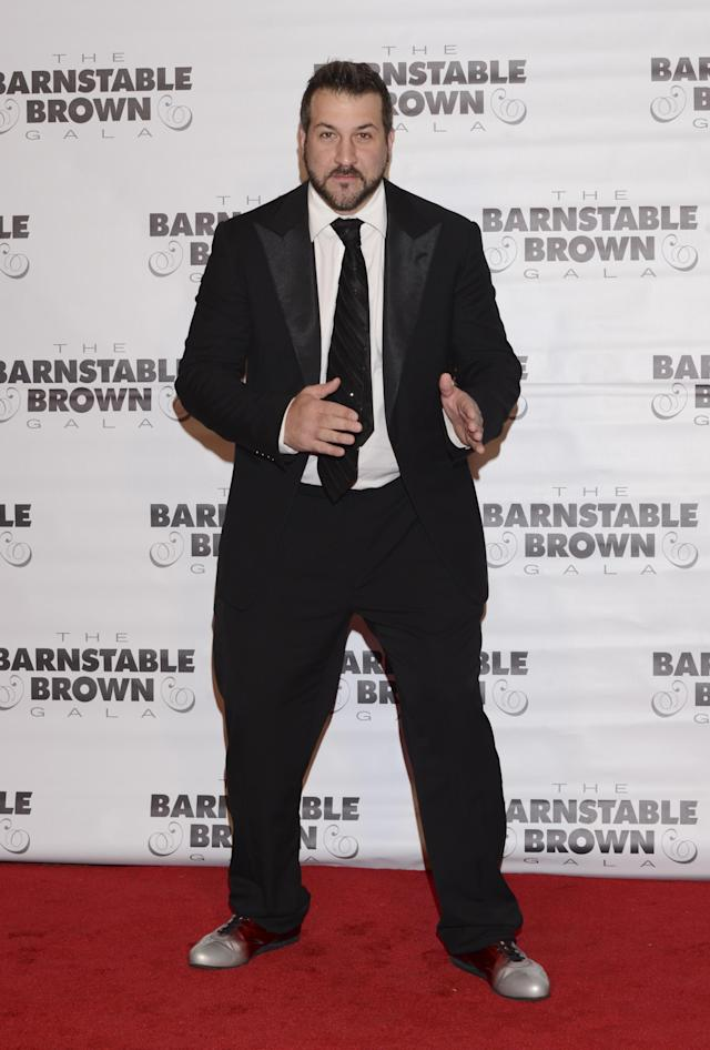LOUISVILLE, KY - MAY 02: Recording artist Joey Fatone attends the Barnstable Brown Kentucky Derby Eve Gala at Barnstable Brown House on May 2, 2014 in Louisville, Kentucky. (Photo by Vivien Killilea/Getty Images)