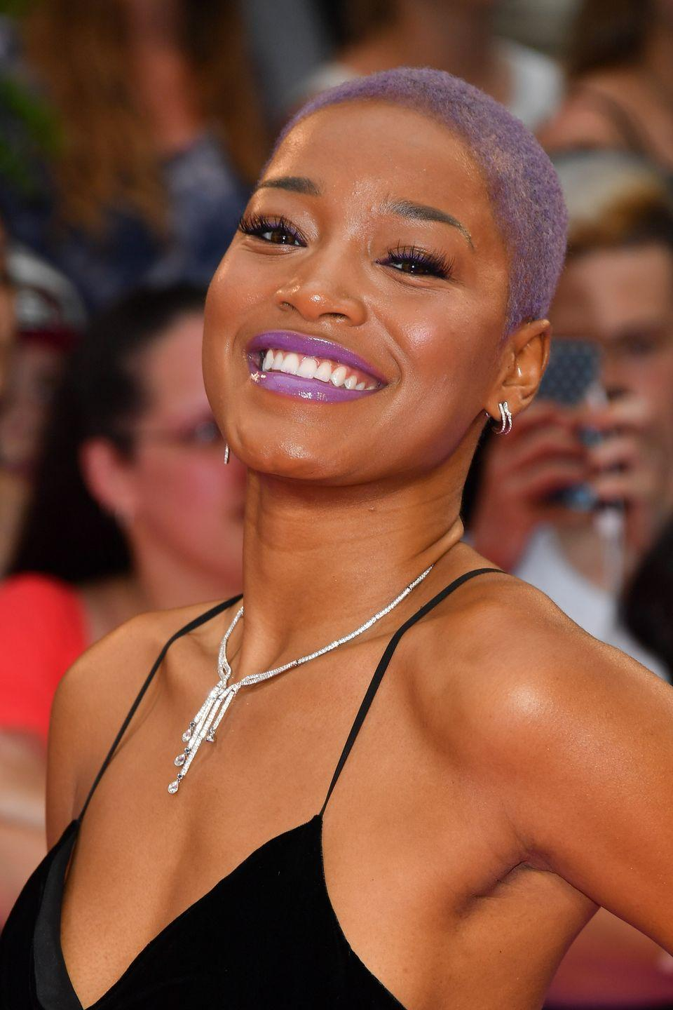 """<p>Keke Palmer shaved her head for an acting role in 2017, telling <a href=""""https://www.refinery29.com/en-us/2017/06/159297/keke-palmer-natural-hair-shaved-head-reason"""" rel=""""nofollow noopener"""" target=""""_blank"""" data-ylk=""""slk:Refinery 29"""" class=""""link rapid-noclick-resp"""">Refinery 29</a> """"I love finding new versions of myself.""""</p>"""