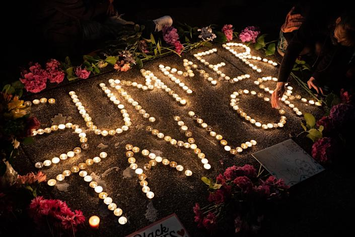 A vigil in Seattle for Summer Taylor, who died after being hit by a car at a protest: Getty Images