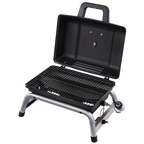 """<p><strong>Char-Broil</strong></p><p>amazon.com</p><p><strong>$87.54</strong></p><p><a href=""""https://www.amazon.com/dp/B01KJGBC6A?tag=syn-yahoo-20&ascsubtag=%5Bartid%7C10050.g.20901668%5Bsrc%7Cyahoo-us"""" rel=""""nofollow noopener"""" target=""""_blank"""" data-ylk=""""slk:Shop Now"""" class=""""link rapid-noclick-resp"""">Shop Now</a></p><p>This liquid propane gas grill doesn't take up much space <em>and </em>means you can enjoy delicious meals when you go car camping. You can also use a <a href=""""https://www.amazon.com/Uten-Barbecue-Lightweight-Tailgating-Backpacking/dp/B074XCJLY5/"""" rel=""""nofollow noopener"""" target=""""_blank"""" data-ylk=""""slk:mini charcoal grill"""" class=""""link rapid-noclick-resp"""">mini charcoal grill</a> if you prefer.</p>"""