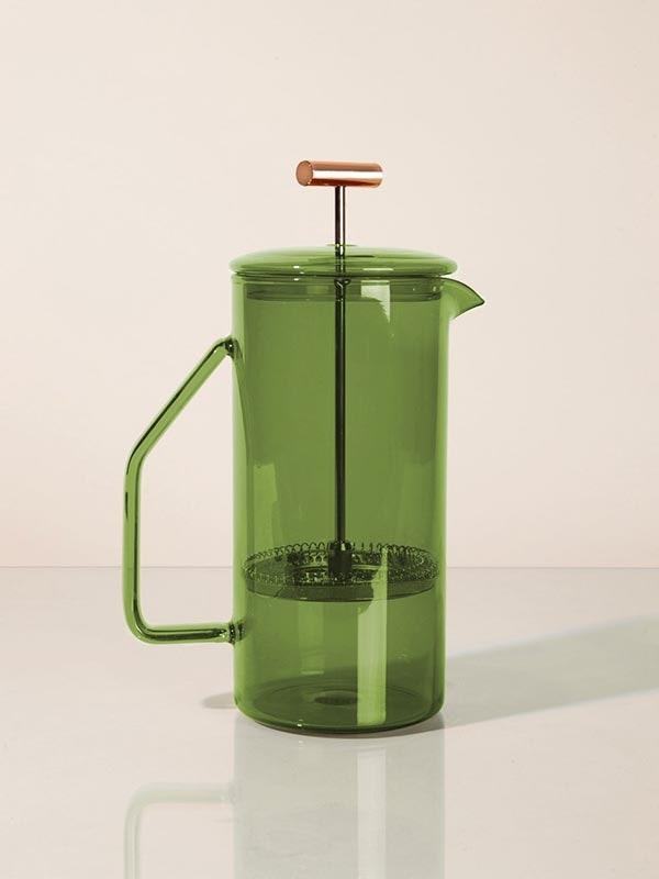 "The French-press-er will be enamored of this gorgeous borosilicate glass design, available in four pretty colors and ideal for vibey kitchen snaps. $85, Yield. <a href=""https://yielddesign.co/products/850-ml-glass-french-press?variant=31462089916499"" rel=""nofollow noopener"" target=""_blank"" data-ylk=""slk:Get it now!"" class=""link rapid-noclick-resp"">Get it now!</a>"
