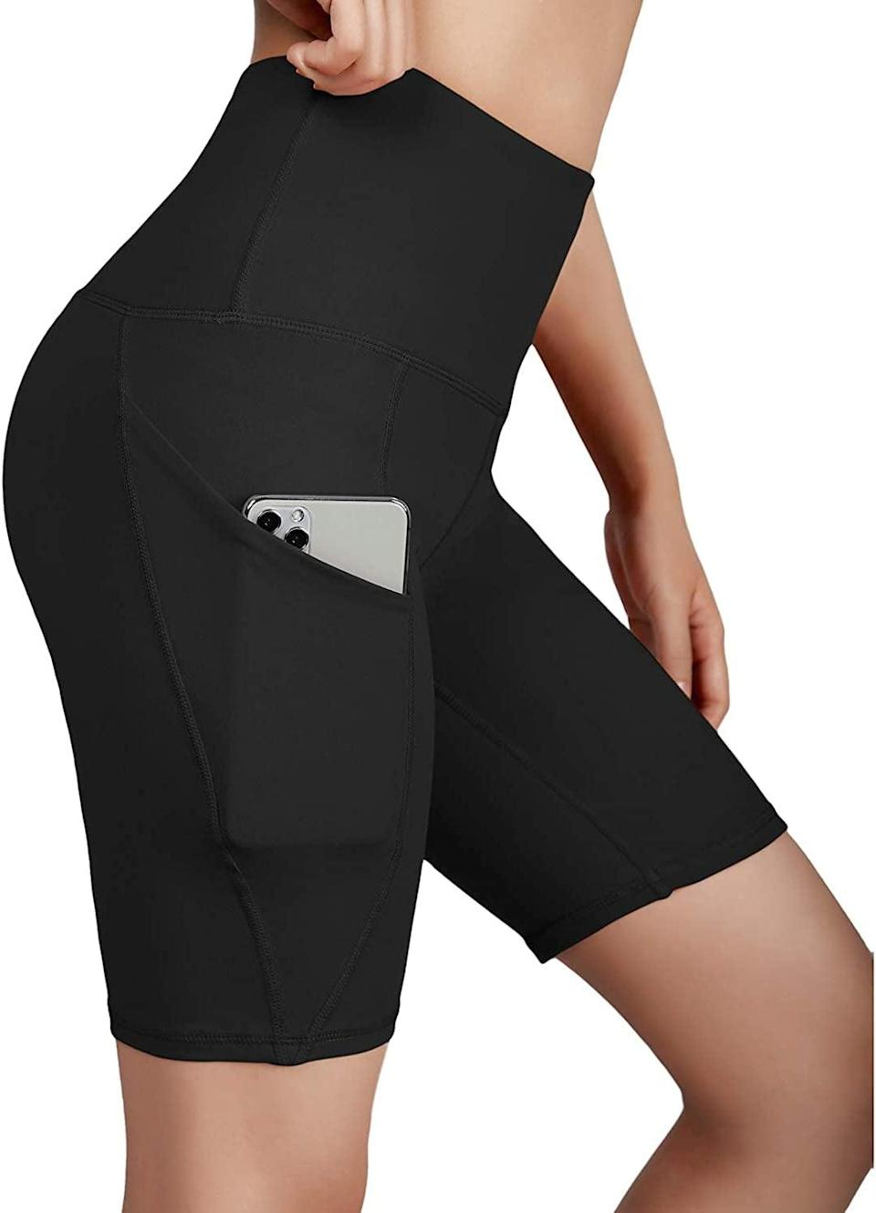 <p>These <span>Ododos Dual Pocket High Waist Workout Shorts</span> ($21, originally $46) have pockets, which is so useful! Store your phone, keys, and mask, and you're ready to go!</p>