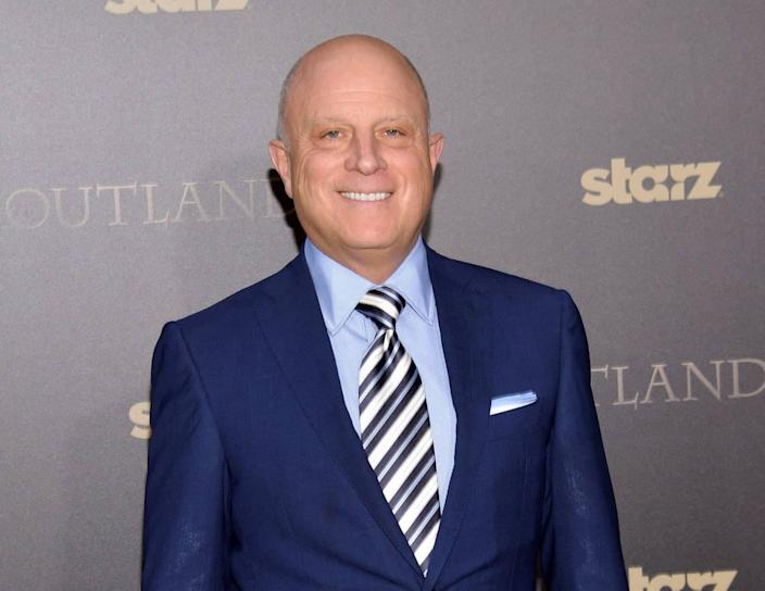 "FILE - In this April 1, 2015 file photo, Starz CEO Chris Albrecht attends the mid-season premiere of ""Outlander"" in New York. (Photo by Evan Agostini/Invision/AP, File)"