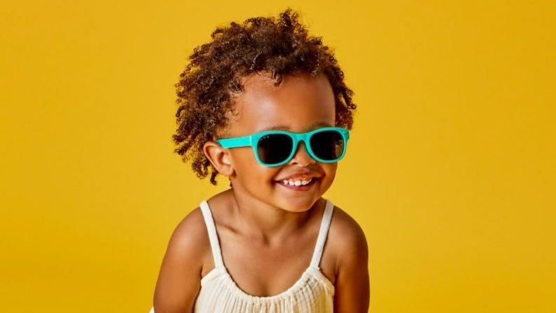 These cool sunglasses block out UVA, UVB and  UVC rays.