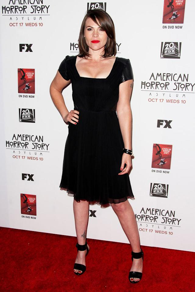 "Clea DuVall attends the ""American Horror Story: Asylum"" premiere held at Paramount Studios on October 13, 2012 in Hollywood, California."