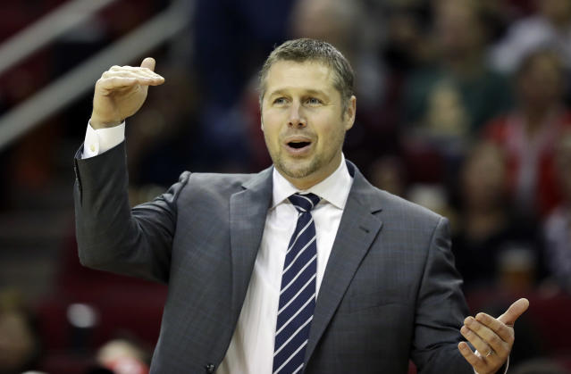 "Dave Joerger has coached the <a class=""link rapid-noclick-resp"" href=""/nba/teams/sac"" data-ylk=""slk:Kings"">Kings</a> since 2016. (AP)"