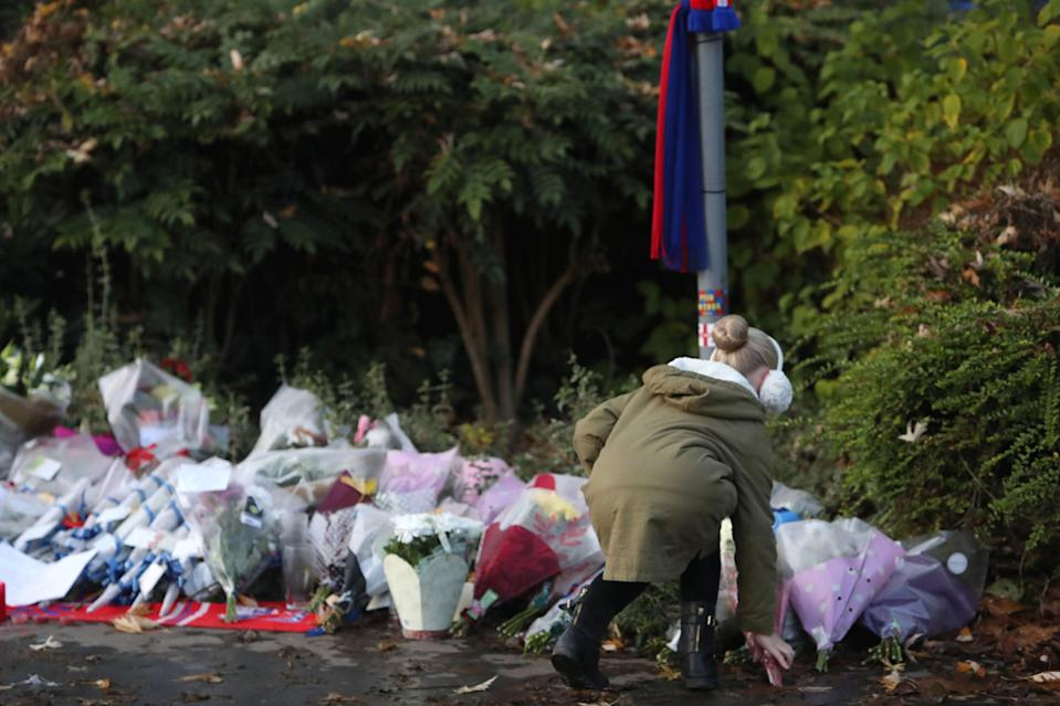 Flowers are left at the scene near the tram crashPA Archive