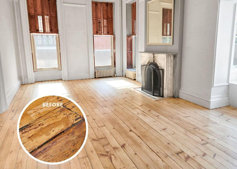 "<p><em>The Brooklyn home of ELLE Decor Executive Editor Ingrid Abramovitch.<br></em></p><p><br>I am now gearing up for the second phase of my project: replacing floor sections too damaged to restore. There, too, the choices have multiplied, with products ranging from reclaimed to new wood with all the character (but fewer of the imperfections) of the old. Tastes have evolved, notes the <a href=""https://thehudsonco.com/"" rel=""nofollow noopener"" target=""_blank"" data-ylk=""slk:Hudson Company's"" class=""link rapid-noclick-resp"">Hudson Company's</a> Jamie Hammel, who operates his own mill in Pine Plains, New York. <br><br>""Twenty years ago, the trend was narrow boards, void of character, and stained either natural or brown,"" he says. ""Now people want floors that celebrate the innate character of wood: wide planks, long lengths, knots, and patina.""Meanwhile, patterns-from chevrons to blocks-are also surging. ""My very favorite is parquet de Versailles,"" notes decorator <a href=""https://www.elledecor.com/design-decorate/house-interiors/g23902116/rudin-family-hamptons-dollhouse/"" rel=""nofollow noopener"" target=""_blank"" data-ylk=""slk:Alex Papachristidis"" class=""link rapid-noclick-resp"">Alex Papachristidis</a> of the interlacing diagonal style made famous by the French palace. My pine floors are comparatively humble, but the makeover was everything I had hoped for-the rooms feel lighter and more modern, yet the floors retain a sense of their soul and a link to my home's history.</p><p>Now that you know all about my experience renovating my Brooklyn home, see how top designers used wood flooring in a variety of interiors. </p>"