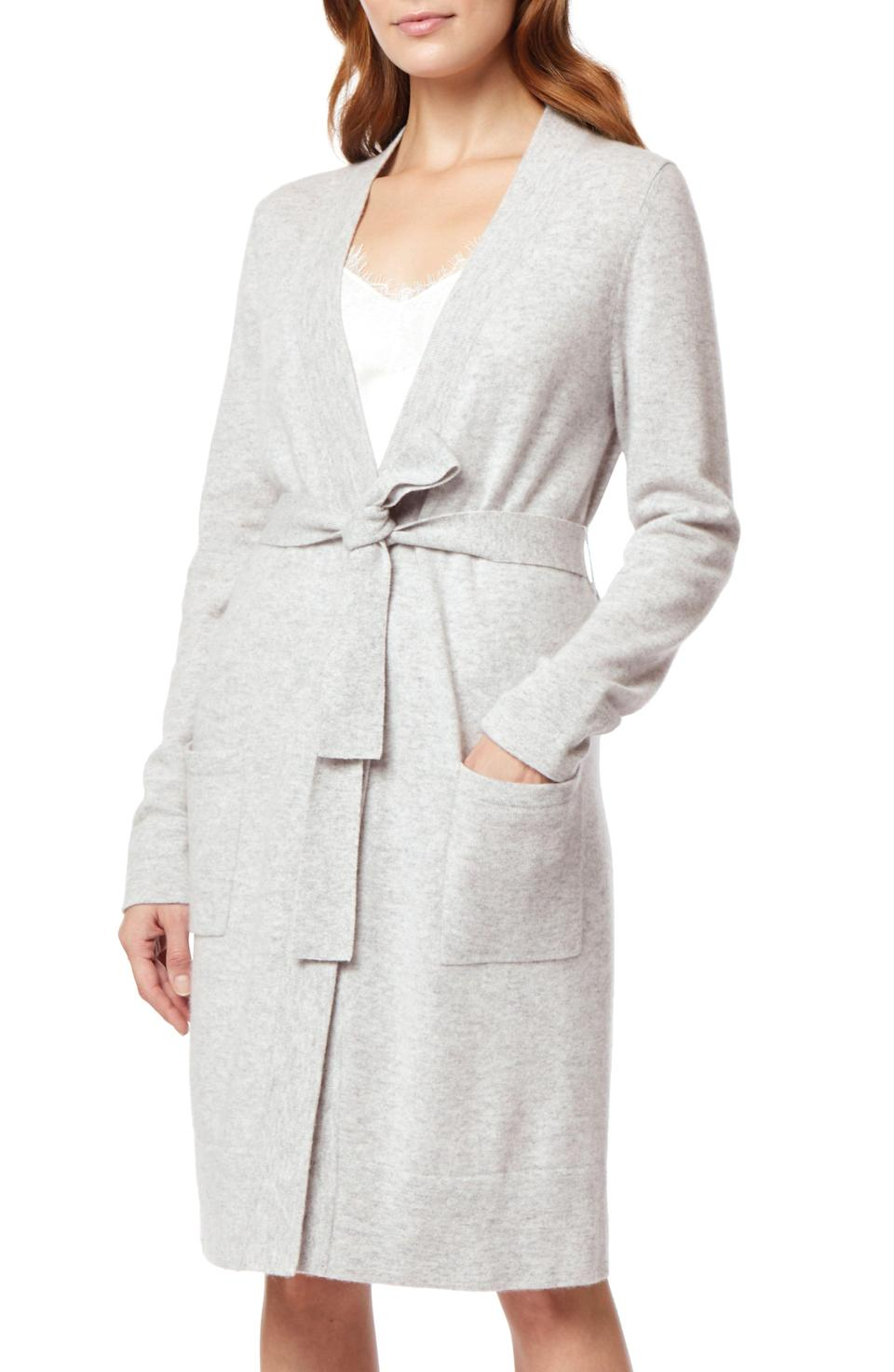 """<p><strong>The White Company</strong></p><p>nordstrom.com</p><p><strong>$325.00</strong></p><p><a href=""""https://go.redirectingat.com?id=74968X1596630&url=https%3A%2F%2Fwww.nordstrom.com%2Fs%2Fthe-white-company-short-cashmere-robe%2F5374037&sref=https%3A%2F%2Fwww.veranda.com%2Fluxury-lifestyle%2Fluxury-fashion-jewelry%2Fg34574412%2Fbest-loungewear%2F"""" rel=""""nofollow noopener"""" target=""""_blank"""" data-ylk=""""slk:Shop Now"""" class=""""link rapid-noclick-resp"""">Shop Now</a></p><p>Sure, it's a robe, but couldn't it also pass as a luxe duster cardigan? We are loving this versatile cashmere robe that will keep you warm and cozy while keeping your co-workers from pajama</p>"""