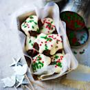 """<p>Great as a sweet nibble to end a party, with a cup of tea or presented in a special tin or box. If you prefer your brownie bites less sweet, simply drizzle them with plain chocolate.</p><p><strong>Recipe: <a href=""""https://www.goodhousekeeping.com/uk/food/recipes/christmas-brownie-bites"""" rel=""""nofollow noopener"""" target=""""_blank"""" data-ylk=""""slk:Christmas brownie bites"""" class=""""link rapid-noclick-resp"""">Christmas brownie bites</a></strong><br><br><br><br></p>"""