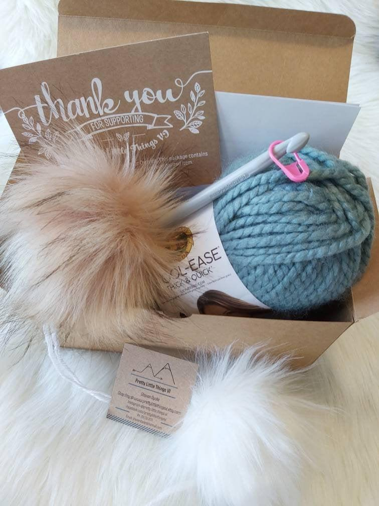 Create Your Own Crochet Toque Kit. Image via Etsy.