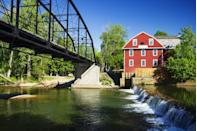 """<p><a href=""""https://www.tripadvisor.com/Attraction_Review-g31892-d629565-Reviews-War_Eagle_Mill-Rogers_Arkansas.html"""" rel=""""nofollow noopener"""" target=""""_blank"""" data-ylk=""""slk:The famous War Eagle Mill"""" class=""""link rapid-noclick-resp"""">The famous War Eagle Mill</a> was built in 1832 and has been destroyed and rebuilt three times, yet it's still in operation today. During the fall, the town hosts an elaborate craft fair that DIY lovers won't want to miss.</p>"""