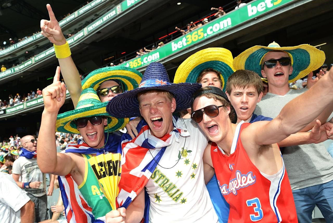 MELBOURNE, AUSTRALIA - DECEMBER 27:  A general view of Australian fans during day two of the Second Test match between Australia and Sri Lanka at Melbourne Cricket Ground on December 27, 2012 in Melbourne, Australia.  (Photo by Vince Caligiuri/Getty Images)