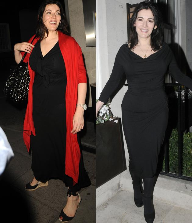 Nigella Lawson weight loss: The domestic goddess lost some of fabulous curves this year turning from a size 18 to a 12. Her trimmer look was achieved by following the Bodyism Clean and Lean plan  - a healthy eating and exercise programme.