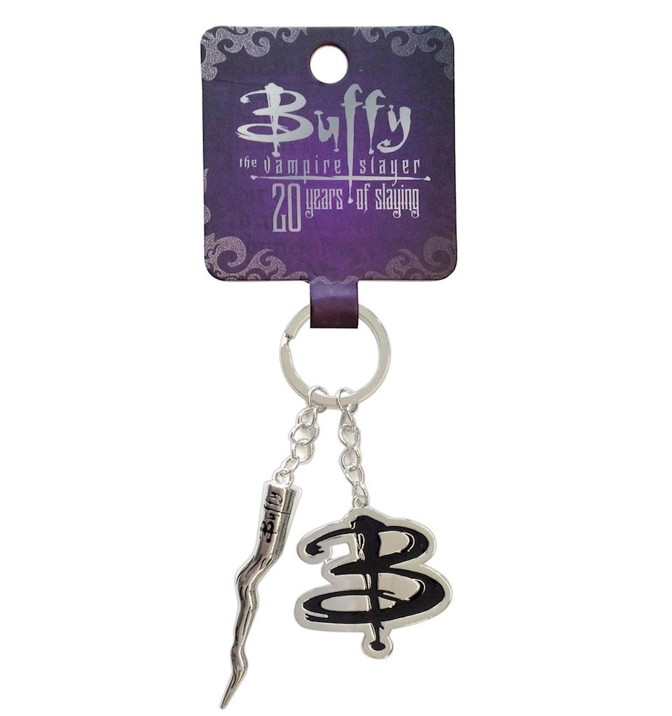 <p>SG@NYC is creating a jewelry and accessory line to celebrate Buffy Summers' 20 years slaying, ranging in price from $11 to $19. Available soon, this keychain with a tiny stake… (Credit: SG@NYC) </p>