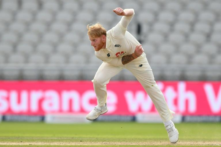 Key wickets - England's Ben Stokes bowls on the third day of the first Test against Pakistan at Old Trafford on Friday