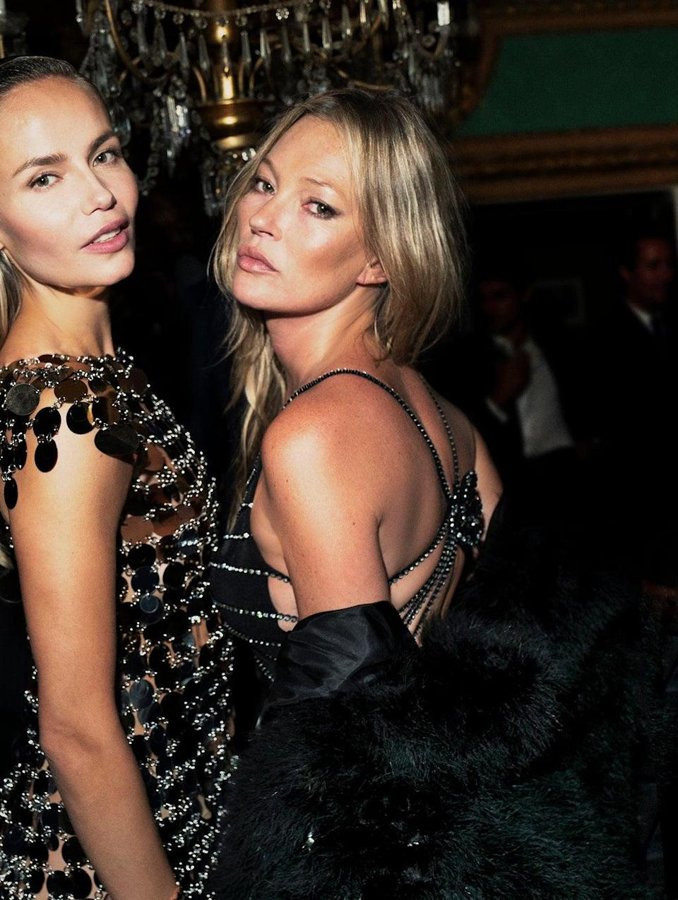 Natasha Poly and Kate Moss at the SEVENTY ONE Gin dinner (Mert Alas)