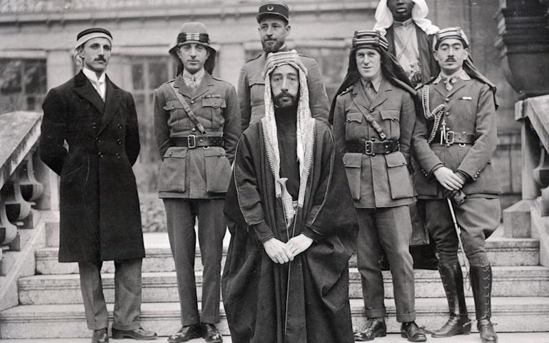 Emir Faisal with Lawrence at Versailles - Credit: Wikipedia