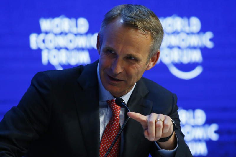 Jonas Prising, Chief Executive Officer of ManpowerGroup attends the annual meeting of the World Economic Forum (WEF) in Davos, Switzerland January 22, 2016. REUTERS/Ruben Sprich