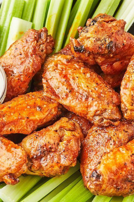"""<p><a href=""""https://www.delish.com/uk/cooking/recipes/a30975501/fried-chicken-wings-recipe/"""" rel=""""nofollow noopener"""" target=""""_blank"""" data-ylk=""""slk:Fried Chicken Wings"""" class=""""link rapid-noclick-resp"""">Fried Chicken Wings</a> are delicious, but they make a big mess. These air fryer wings are super-easy, and they're just as crunchy as the oil-fried kind. We're hooked! Add buffalo sauce (or, really, any sauce you're a fan of) and you're good to go!</p><p>Get the <a href=""""https://www.delish.com/uk/cooking/recipes/a32262330/air-fryer-chicken-wings-recipe/"""" rel=""""nofollow noopener"""" target=""""_blank"""" data-ylk=""""slk:Air Fryer Chicken Wings"""" class=""""link rapid-noclick-resp"""">Air Fryer Chicken Wings</a> recipe.</p>"""