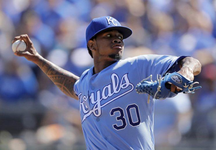 Yordano Ventura spent the entirety of his brief career with the Royals. (AP)