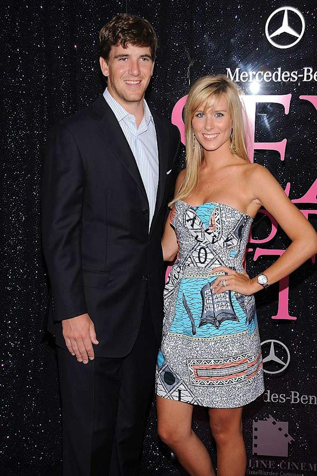 """New York Giants quarterback Eli Manning and his gorgeous wife Abby McGrew were quite possibly the hottest couple in attendance at the premiere. Dimitrios Kambouris/<a href=""""http://www.wireimage.com"""" target=""""new"""">WireImage.com</a> - May 27, 2008"""