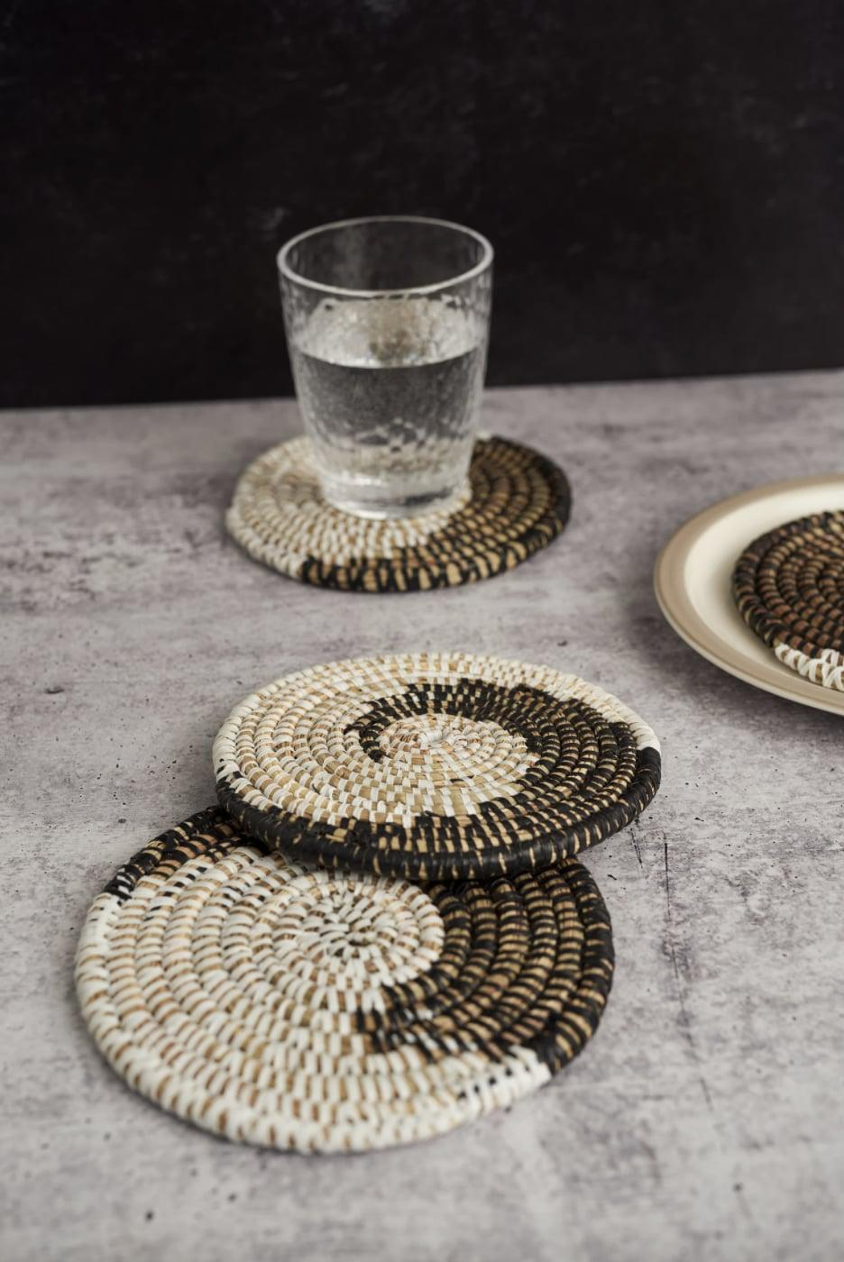 <p>These <span>Expedition Subsahara Badara Woven Coasters (Set of 4)</span> ($35) make a polished and textured addition to any table.</p>