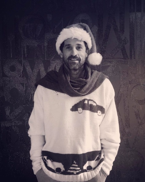 """<p>Car enthusiast Patrick Dempsey proudly showed off his Christmas gift from Porsche. """"Enjoying the handmade gift from my @Porsche Family! … keeps me warm for my first trip to @Porsche auf Sylt Merry Christmas everyone!"""" (Photo:<a rel=""""nofollow noopener"""" href=""""https://www.instagram.com/p/BOcxSpAhSx6/"""" target=""""_blank"""" data-ylk=""""slk:Instagram"""" class=""""link rapid-noclick-resp"""">Instagram</a>) </p>"""