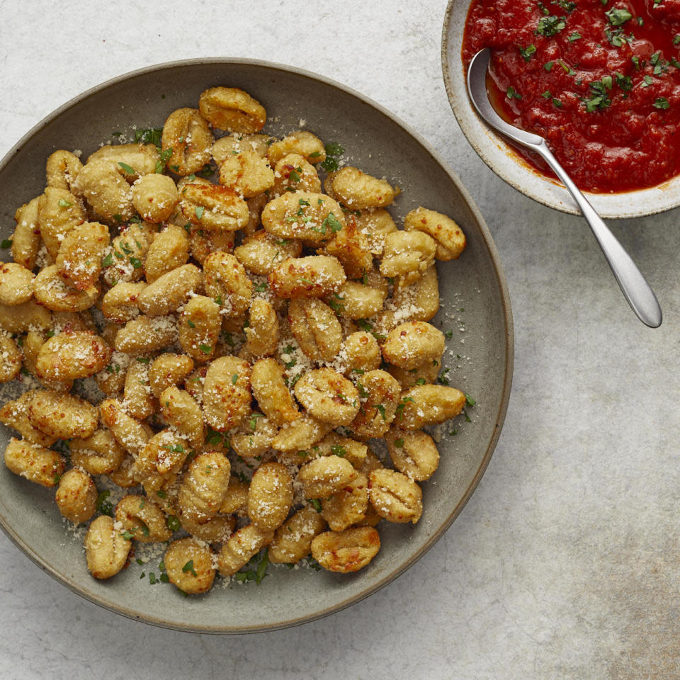 <p>These tasty bites are perfect for anytime you need an easy appetizer or side dish. Cauliflower gnocchi get a crispy, cheesy coating on the outside and a tender middle in an air fryer. Marinara is the perfect complement for dipping.</p>