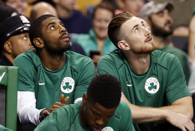 "Brad Stevens believes that both <a class=""link rapid-noclick-resp"" href=""/nba/players/4724/"" data-ylk=""slk:Gordon Hayward"">Gordon Hayward</a> and <a class=""link rapid-noclick-resp"" href=""/nba/players/4840/"" data-ylk=""slk:Kyrie Irving"">Kyrie Irving</a> will be ready to join a loaded <a class=""link rapid-noclick-resp"" href=""/nba/teams/bos"" data-ylk=""slk:Celtics"">Celtics</a> roster in time for the start of next season. (AP)"