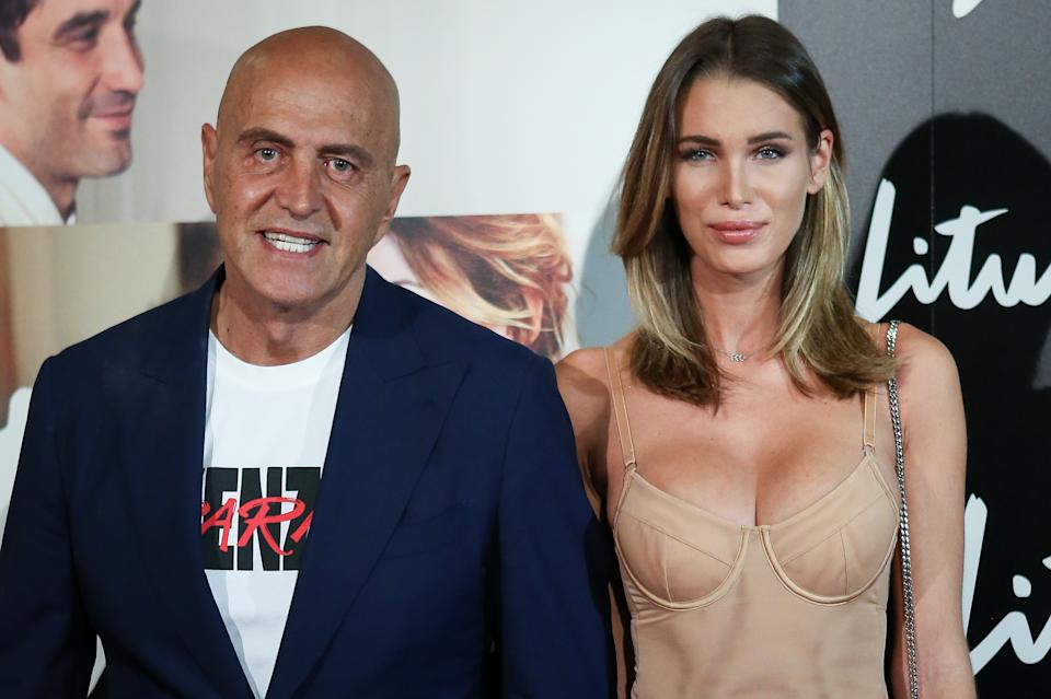 MADRID, SPAIN - SEPTEMBER 03: (L-R) Kiko Matamoros and Marta Lopez attend the 'Litus' Premiere at Verdi Cinema on September 03, 2019 in Madrid, Spain. (Photo by Pablo Cuadra/Getty Images)
