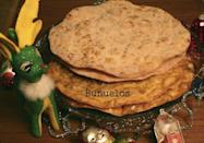 """<div class=""""caption-credit""""> Photo by: Nicole Presley</div><b>Buñuelos</b> <br> <b><i>Ingredients for buñuelos:</i></b> <br> 1 cup vegetable oil <br> 1 dozen flour tortillas <br> 1 cup sugar <br> 3 tsp cinnamon <br> <b><i>Ingredients for glaze:</i></b> <br> 2 cups water <br> 1 piloncillo <br> 1 cinnamon stick <br> 2 anise stars <br> 1/2 cup honey <br> <b><i>Directions:</i></b> <br> 1. In a large frying pan add oil over a medium high flame. Once oil is hot add a flour tortilla and fry till golden crisp on each side (about 3 to 4 minutes). Remove from flame and drain for 5 minutes on a paper towel. Then either sprinkle with sugar and cinnamon or brush with syrup glaze. <br> 2. How to make sugar mixture: Mix sugar and cinnamon in a bowl. <br> 3. How to make syrup: In a sauce pan over a medium flame add water, piloncillo, cinnamon stick and anise stars. Mix till piloncillo dissolves. Then let boil for 5 minutes. Next add in honey and mix to combine/melt into syrup. Remove from flame allow to cool for 10 minutes then brush on buñuelo."""