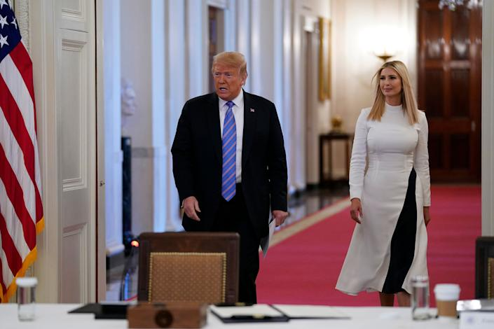 President Donald Trump and his daughter Ivanka: not actually helpful. (Photo: Evan Vucci/ASSOCIATED PRESS)