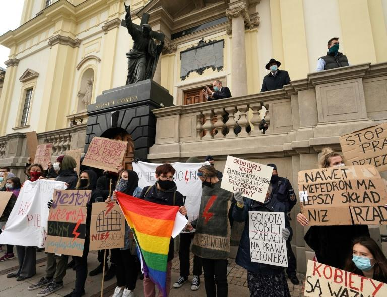 """Mass protests began last week when Poland's Constitutional Court ruled that an existing law allowing the abortion of damaged foetuses was """"incompatible"""" with the constitution"""
