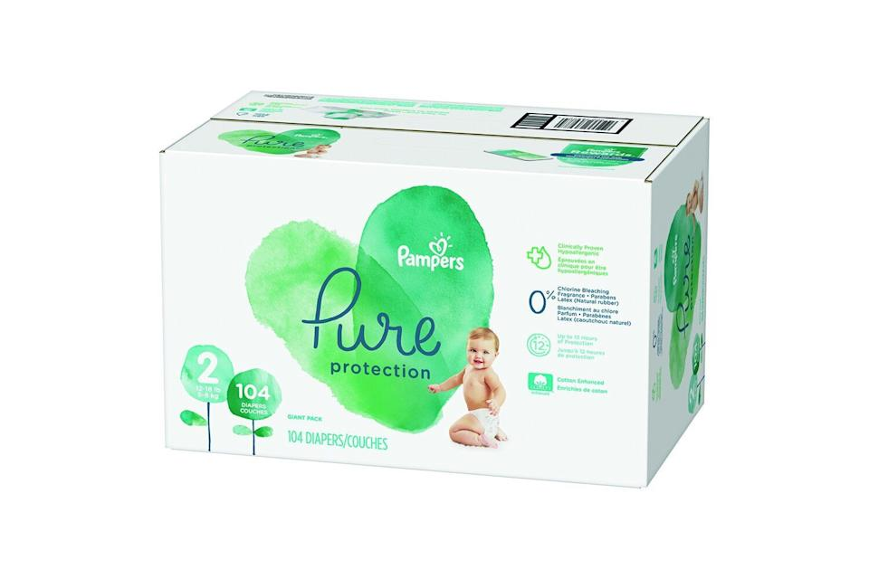 Pampers Pure Protection Diapers (Photo: Walmart)
