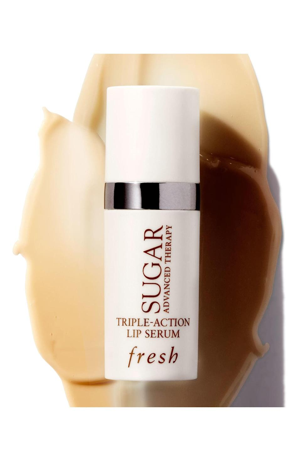 <p>If you have severely dry lips, try out the <span>Fresh Sugar Advanced Therapy Triple-Action Lip Serum</span> ($36). It will instantly hydrate and plump lips with ingredients like acmella flower extract and Kigelia Africana fruit extract. </p>