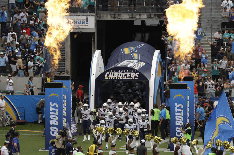 The Los Angeles Chargers don't seem to be winning over their new city yet. (AP)