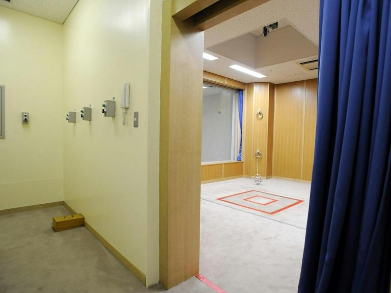 The execution chamber at the Tokyo detention house where inmates are hanged, often with just hours notice