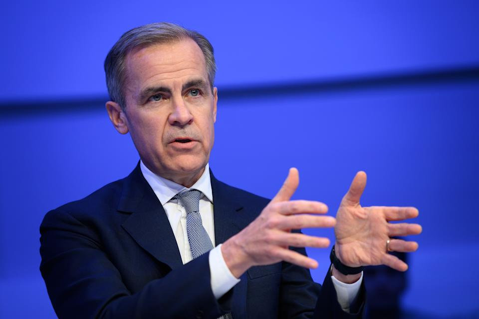 Bank of England head Mark Carney attends a session during the World Economic Forum (WEF) annual meeting in Davos, on January 21, 2020. (Photo by Fabrice COFFRINI / AFP) (Photo by FABRICE COFFRINI/AFP via Getty Images)
