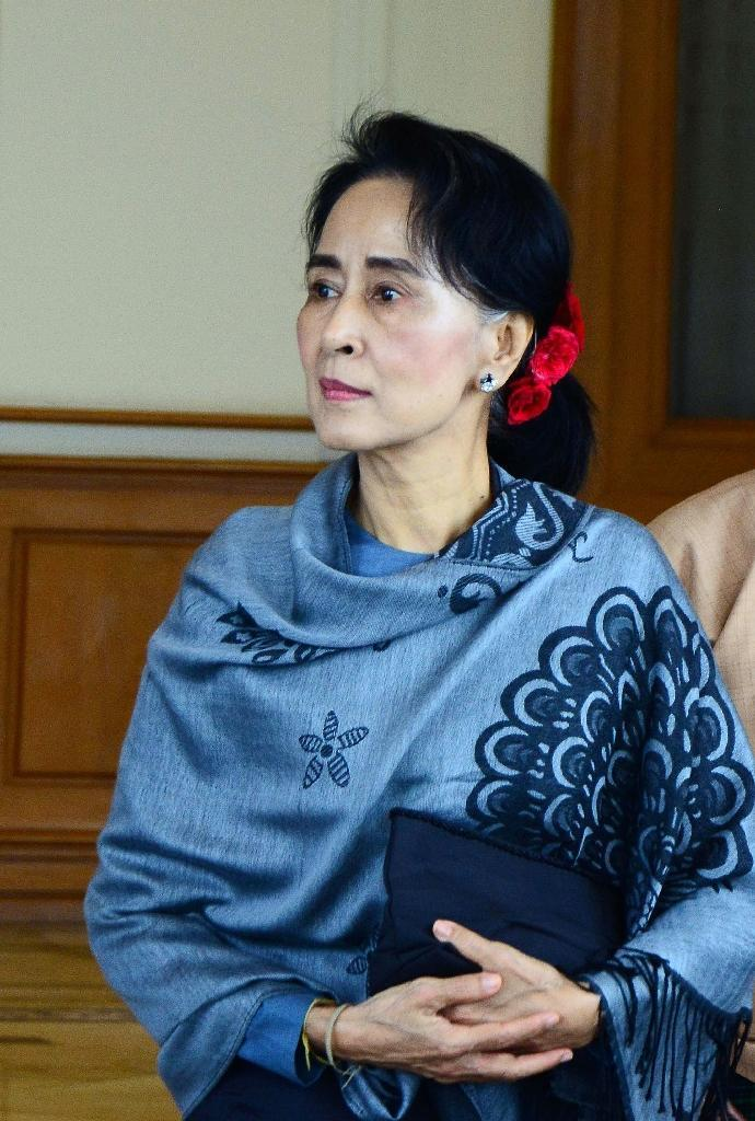Chair of the National League for Democracy (NLD) Aung San Suu Kyi has the weight of the nation's expectations on her shoulders after a long struggle against junta repression (AFP Photo/Aung Htet)